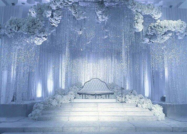 Dazzling Beautiful Winter Wedding Decoration Ideas