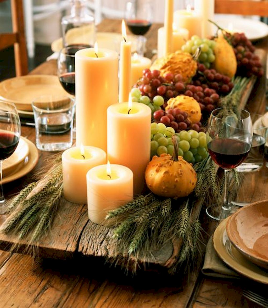 Dazzling Thanksgiving Candle Displays Ideas And Placements