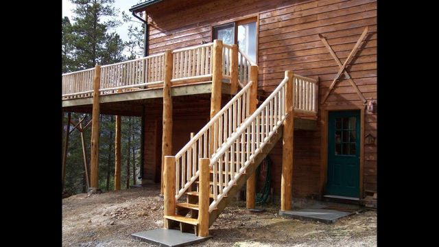 Design of Rustic Style Outdoor Stairs 3