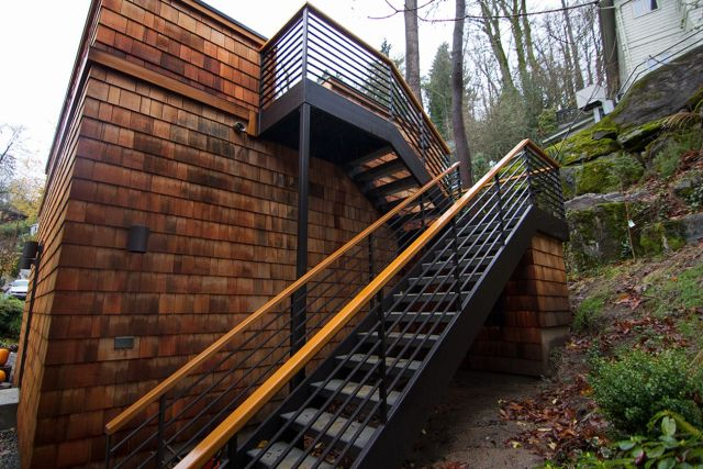 Design of Rustic Style Outdoor Stairs 4