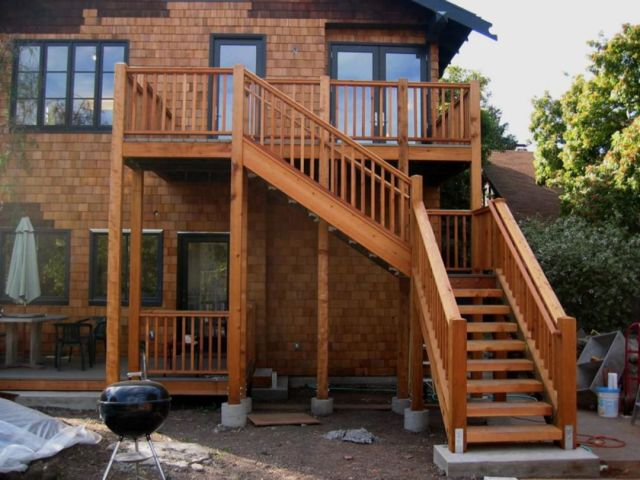 Design of Rustic Style Outdoor Stairs 5
