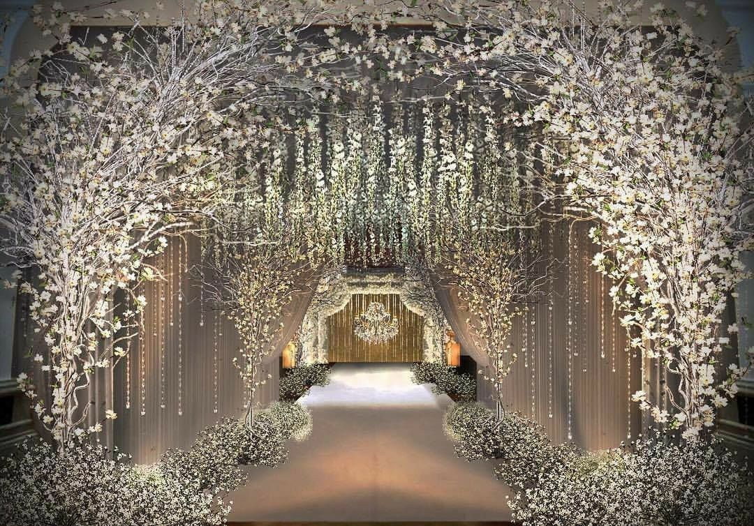 Elegant Beautiful Winter Wedding Decoration Ideas