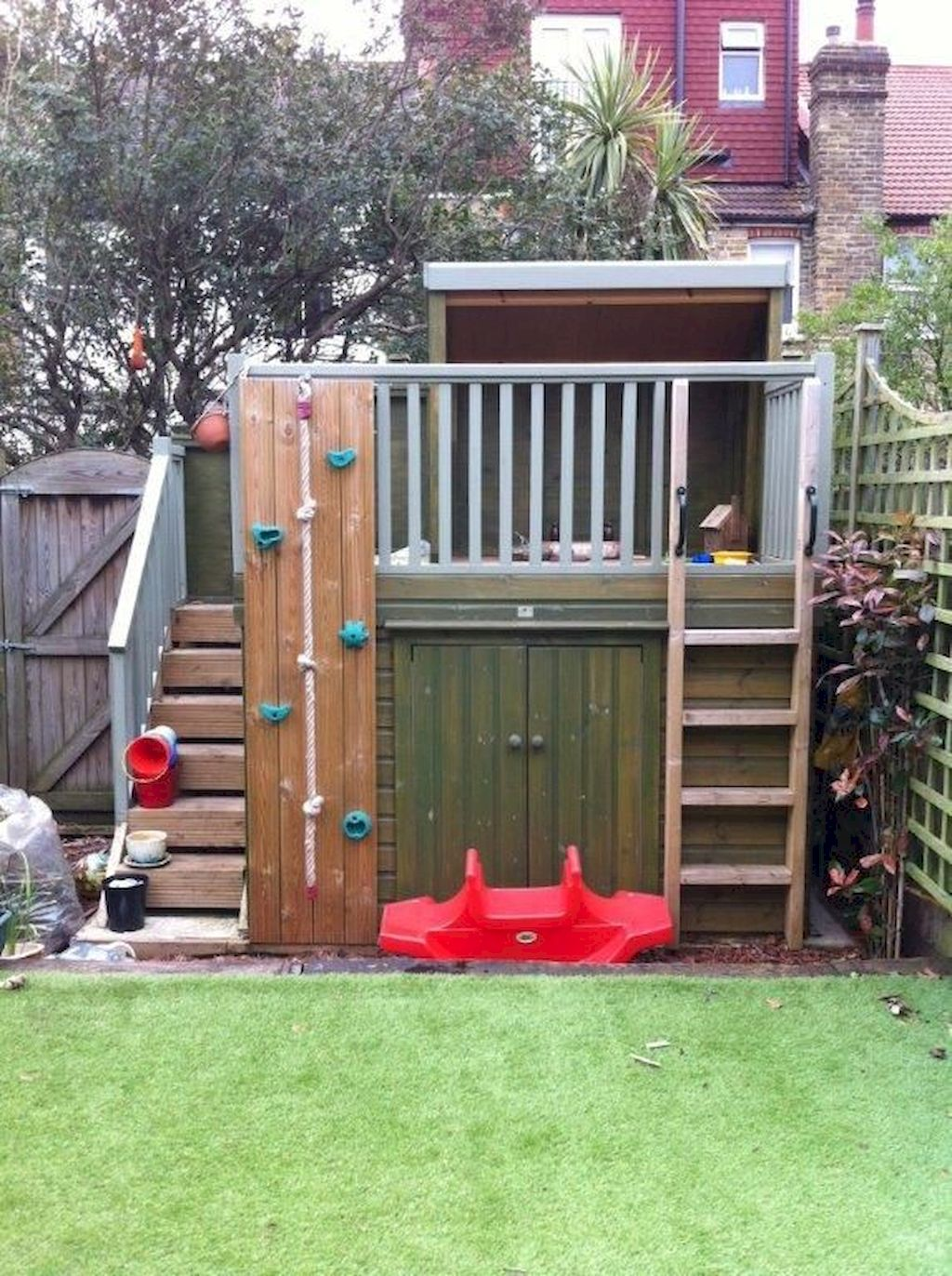 Elegant Playhouse Plan Into Your Existing Backyard Space