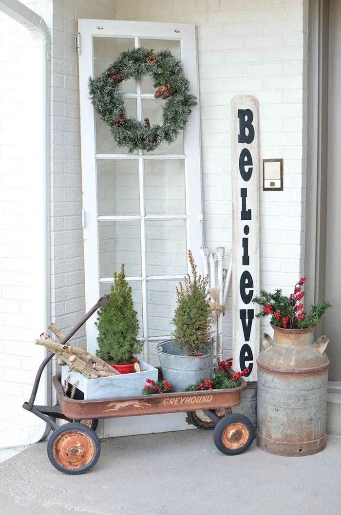 Farmhouse Front Porch Decoration #farmhouse #rustic #porch #decor #decorhomeideas