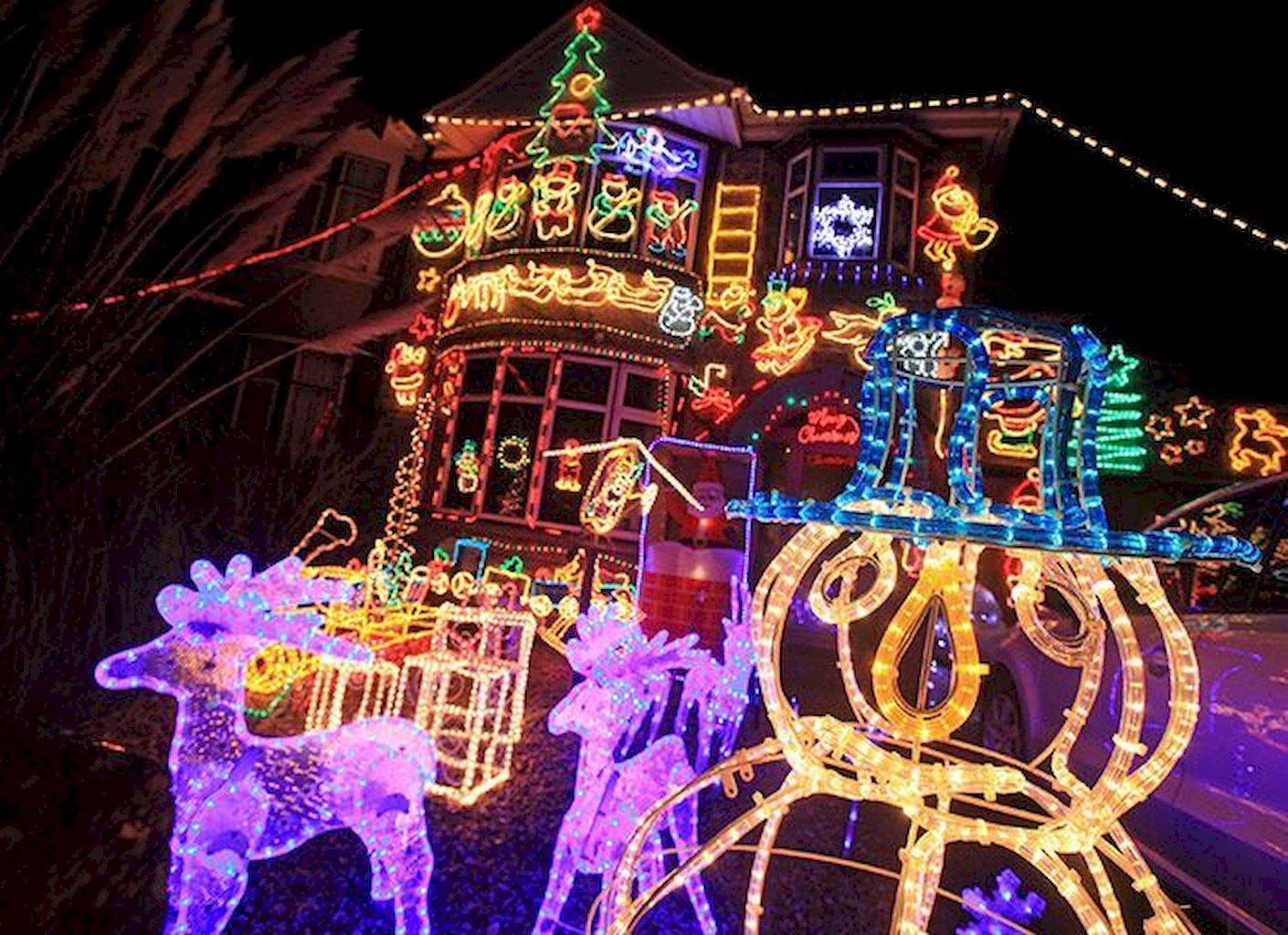 Fine Outdoor Christmas Lights Decoration Ideas