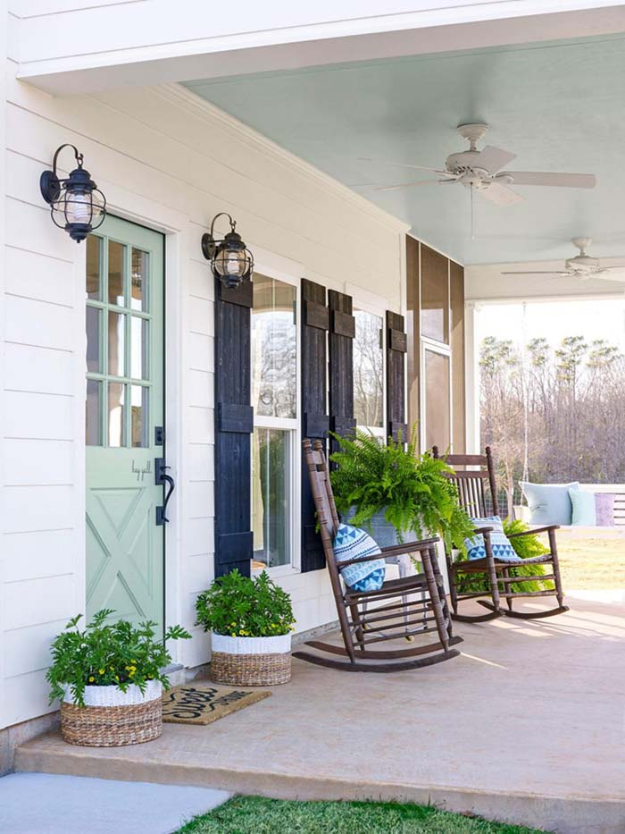Fixer Upper Farmhouse Porch #farmhouse #rustic #porch #decor #decorhomeideas