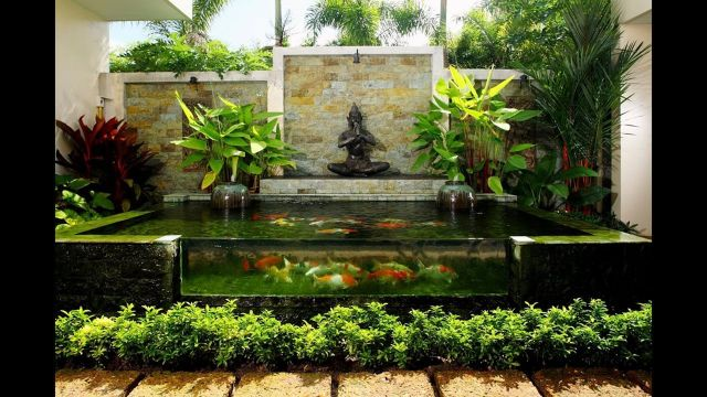 Garden Backyard Design Ideas With Fish Ponds 02