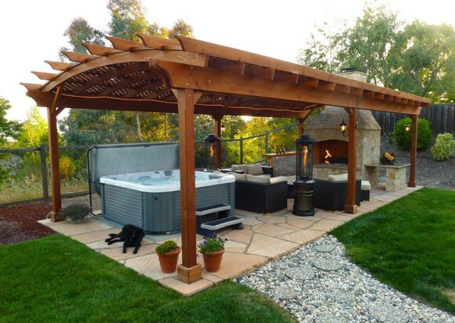 Garden Backyard Design Ideas with Gazebo 02
