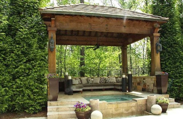 Garden Backyard Design Ideas with Gazebo 03