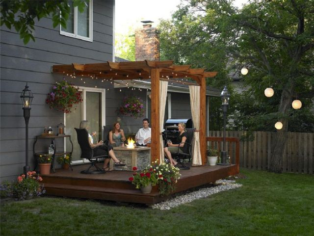 Garden Backyard Design Ideas with Gazebo 05
