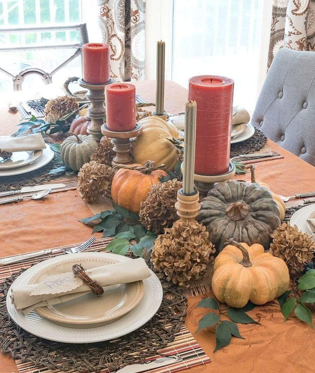 Impressive Thanksgiving Candle Displays Ideas And Placements