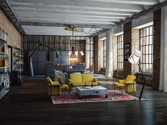 Industrial Apartment Style Design Ideas 3