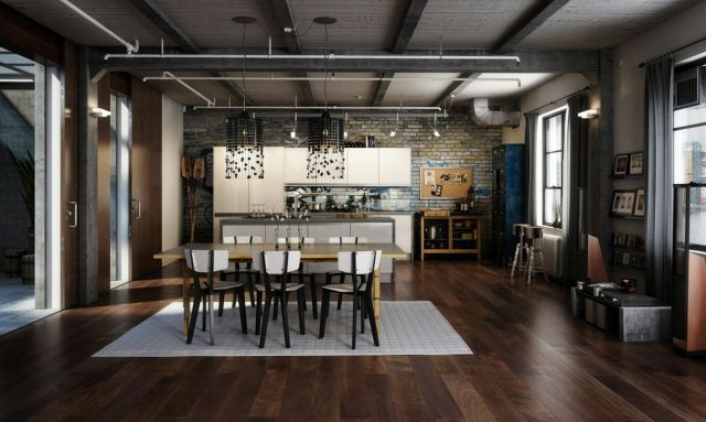 Industrial Apartment Style Design Ideas 4
