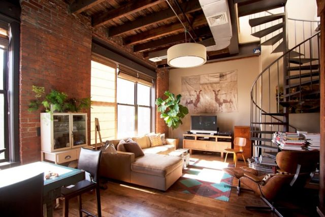 Industrial Style Apartment Living Room 1