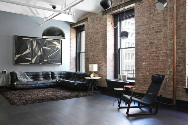 Industrial Style Apartment Living Room 4