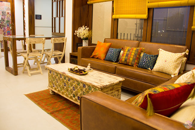 A traditional Indian living room