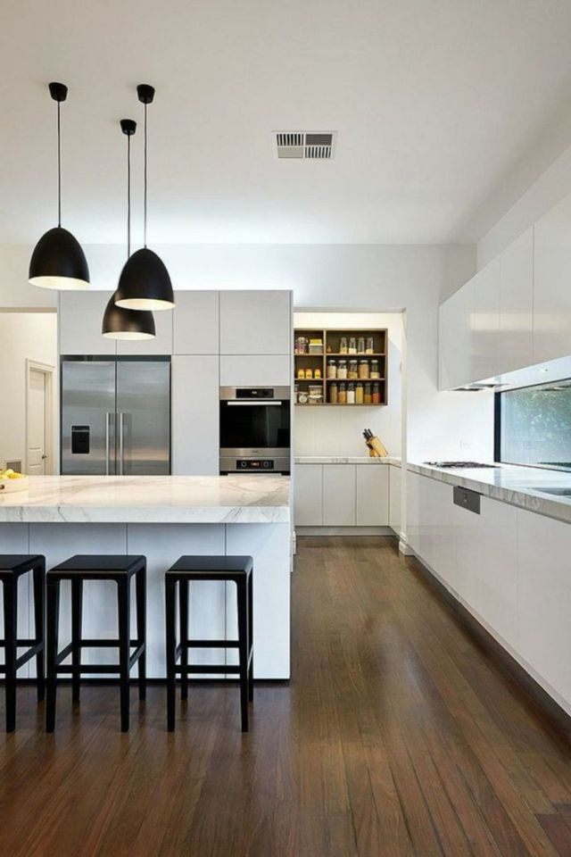 Minimalist Kitchen Combined with Contemporary Design