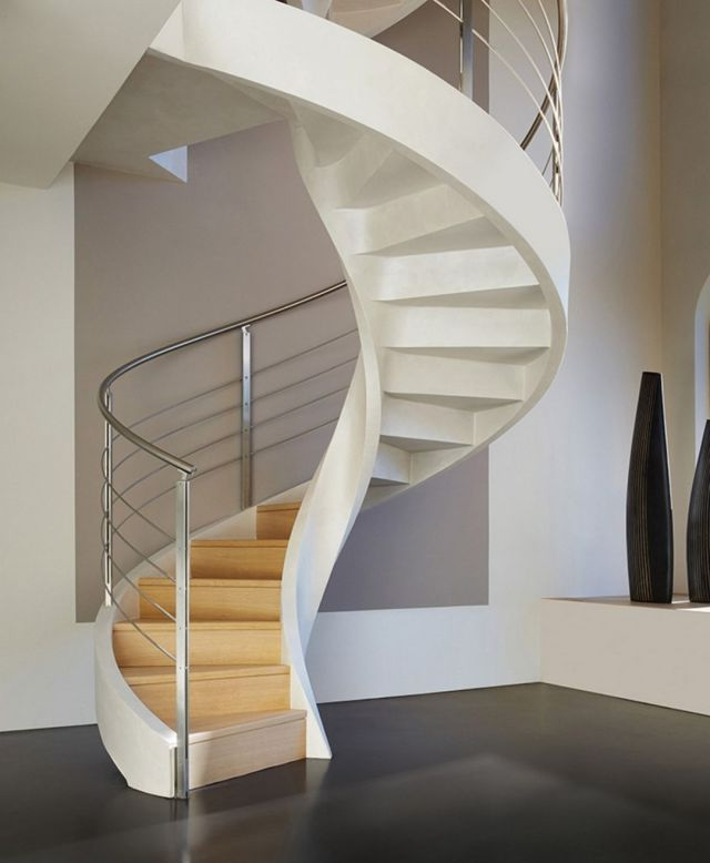 Minimalist Stair Design Ideas with Spiral Designs 3