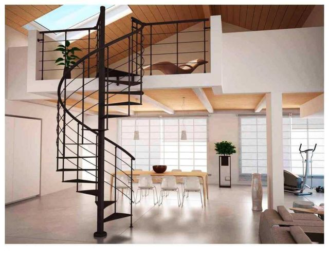 Minimalist Stair Design Ideas with Spiral Designs 4