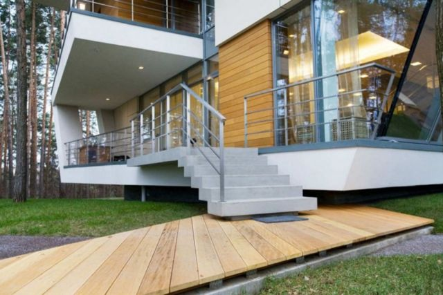 Modern Outdoor Stairs Design 4