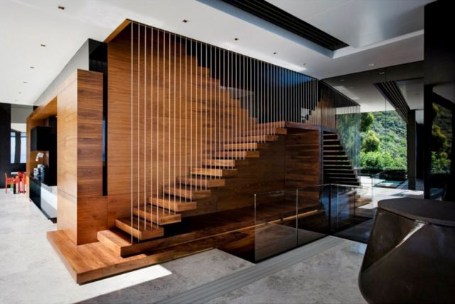 Modern Rustic Stair Design Ideas for Your Minimalist Home 2