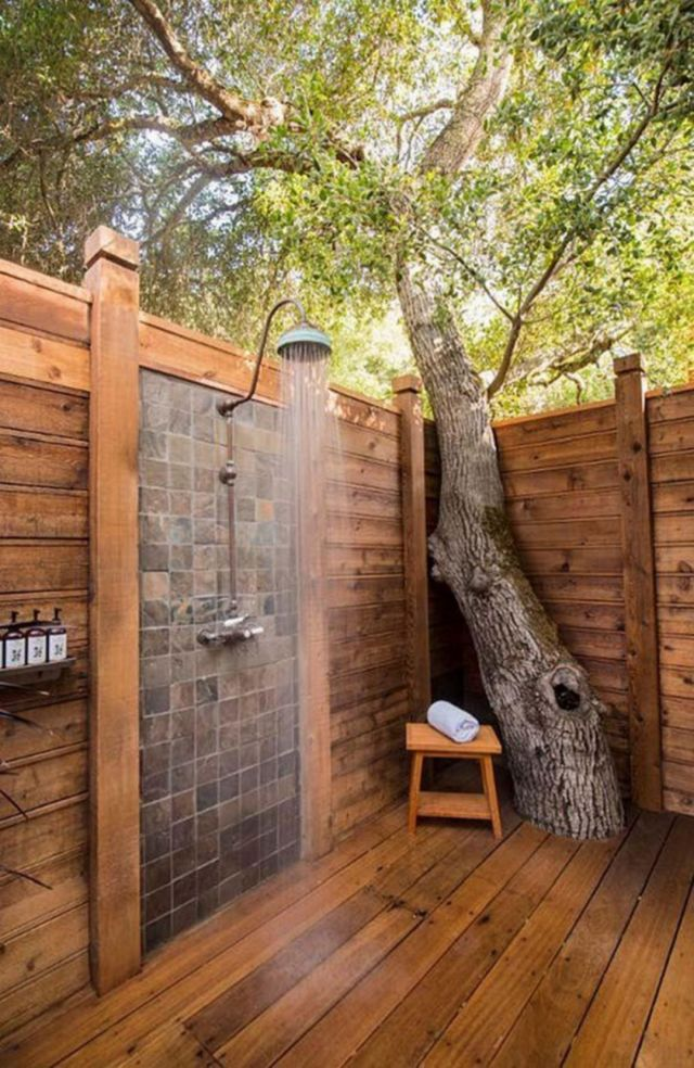 Outdoor Bathroom with Rustic Style 1