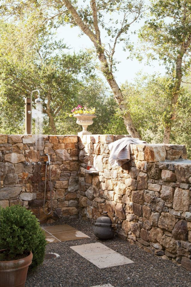 Outdoor Bathroom with Rustic Style 4
