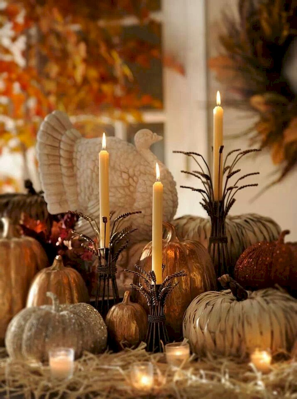 Ravishing Thanksgiving Candle Displays Ideas And Placements