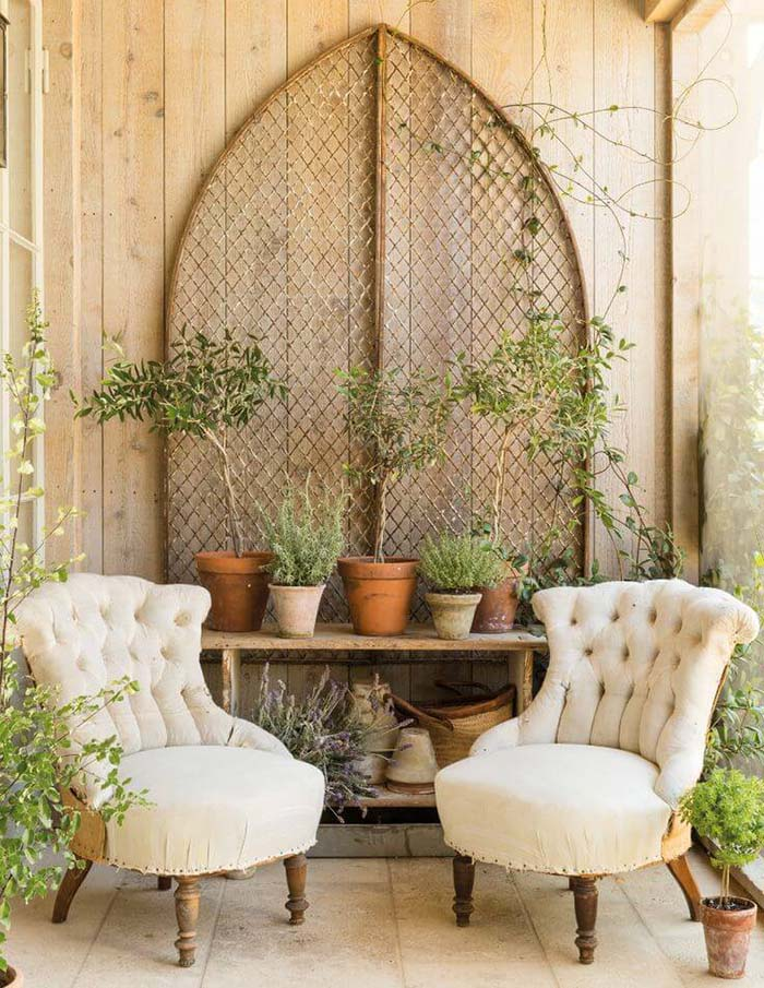 Rustic Porch Setting #farmhouse #rustic #porch #decor #decorhomeideas