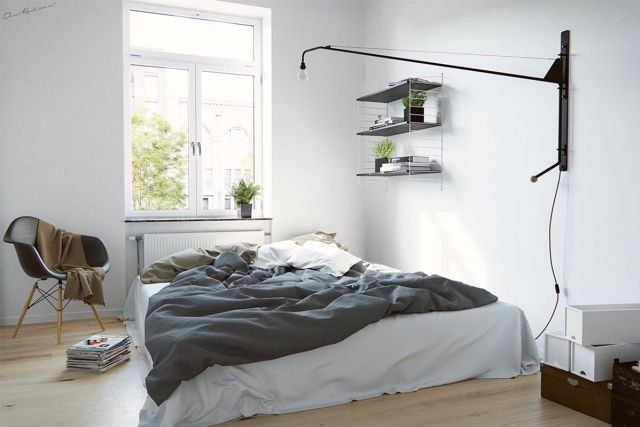 Scandinavia Industrial Bedroom Design Ideas 1
