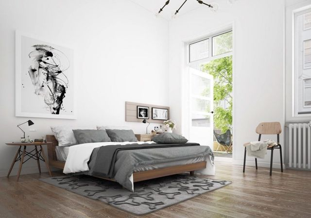 Scandinavia Industrial Bedroom Design Ideas 4