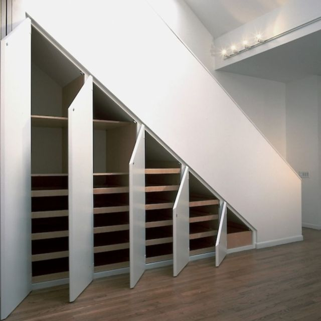 Stair Design Ideas and Minimalist Home Storage Places 2
