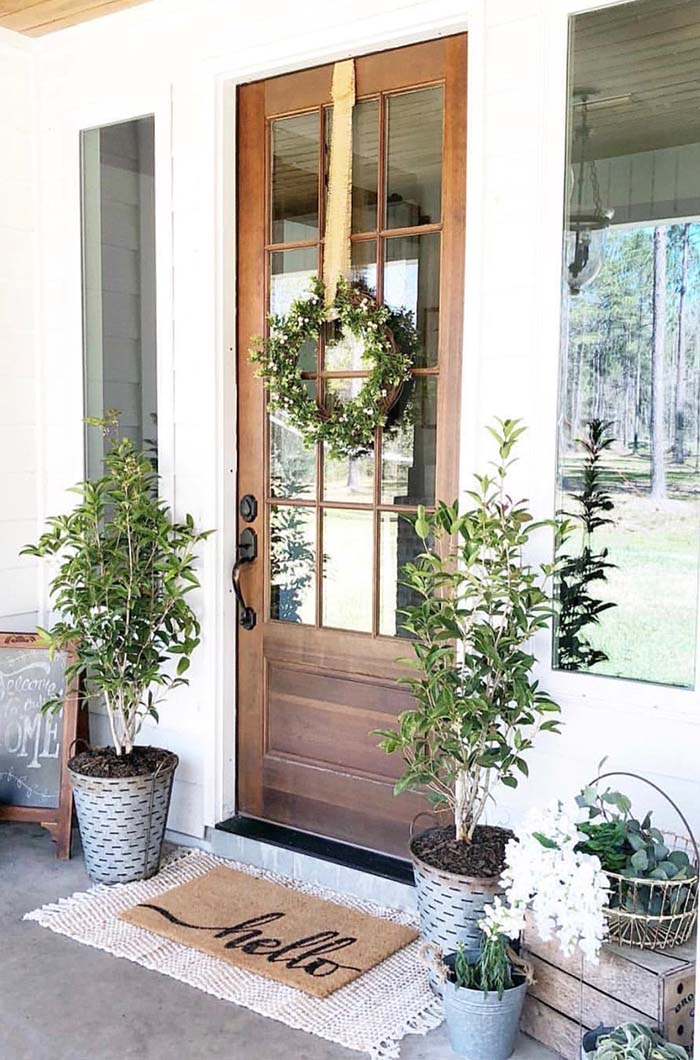 Summer Rustic Front Porch Decor #farmhouse #rustic #porch #decor #decorhomeideas