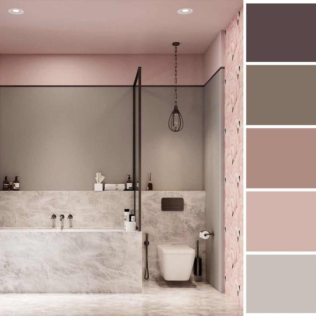 Sumptuous Stylish Color Scheme For Your Bathroom