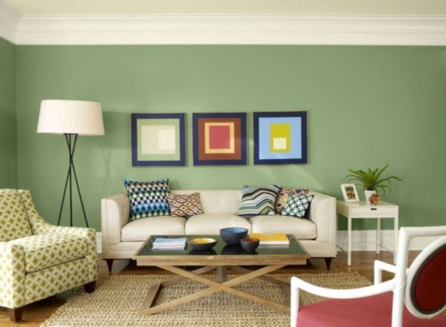 Wall Paint Color Combination Ideas in the Living Room 3