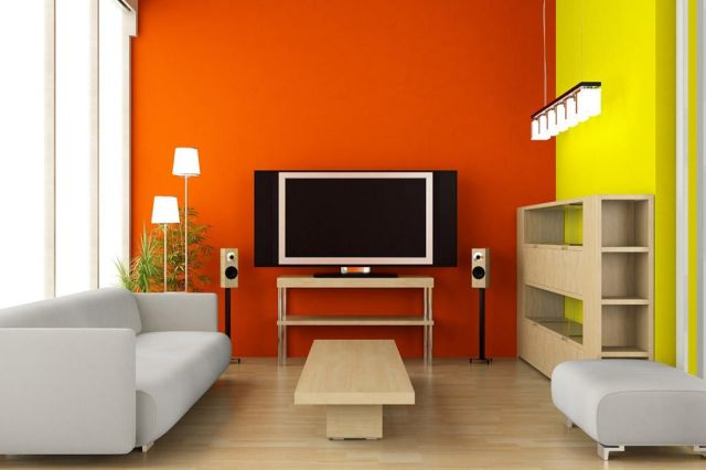 Wall Paint Color Combination Ideas in the Living Room 4