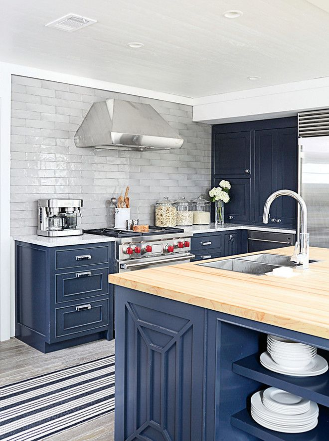 Oval Room Blue Kitchen Cabinets