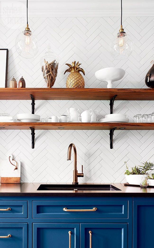 Blue Kitchen Cabinets Modern
