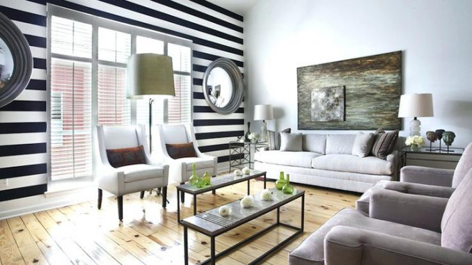 Black Accent Wall Black And White Striped Wall View Full Size Black Accent Wall Ideas.jpg