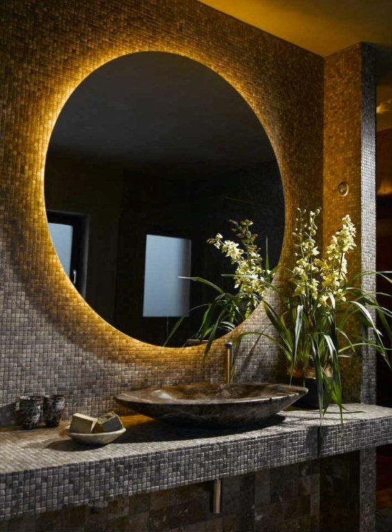 Bathroom Mirror Tiles Ideas