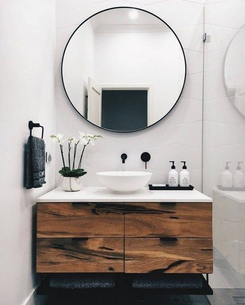 Bathroom Mirror Backsplash Ideas
