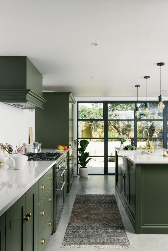 Green Kitchen Ideas That Make Comfy